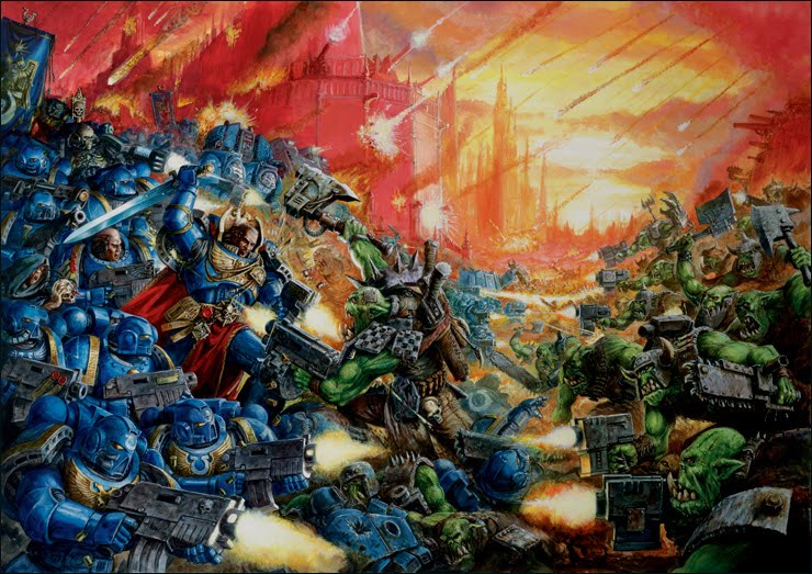 Dawn of War Ultimate Apocalypse - Space Marines vs Orks