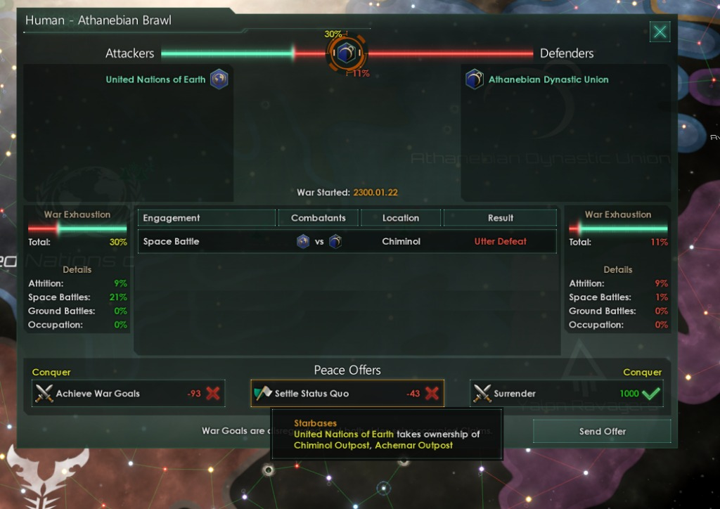 War exhaustion in the Stellaris wargoals overhaul