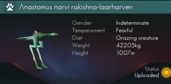 No Man's Sky Naming Convention - Species Data