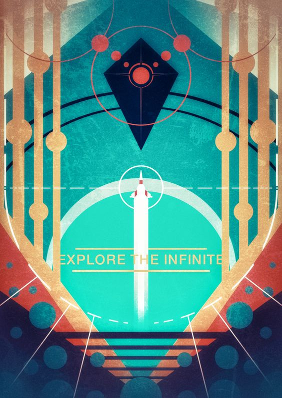"No Man's Sky Naming Convention - ""Explore the Infinite"" poster by Lazare Gvimradze"
