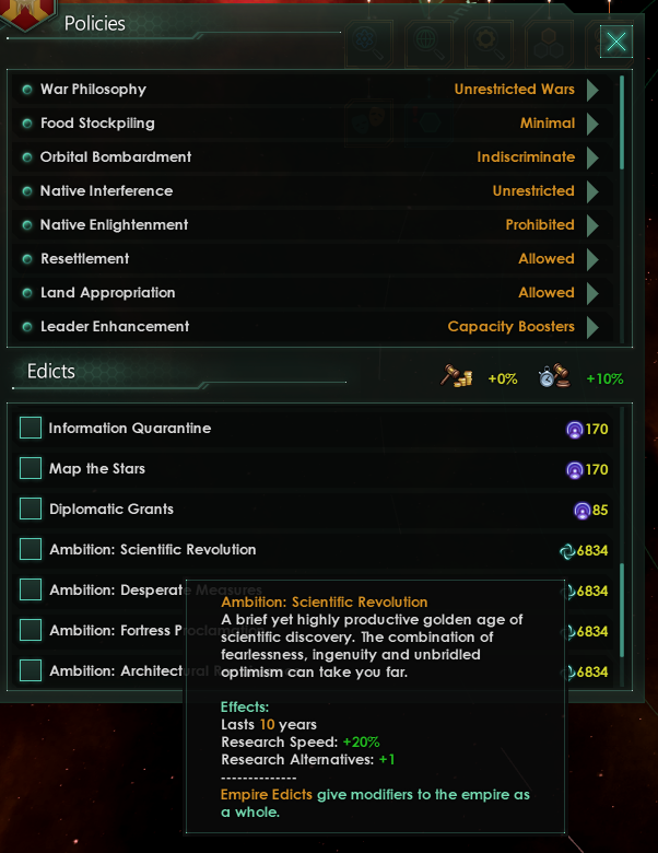 Stellaris Edicts, Campaigns, and Unity Ambitions - Dev Diary #102 - Unity Ambitions