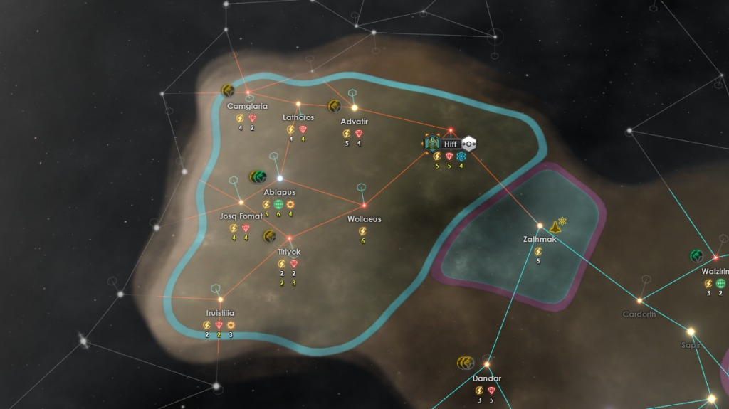 Stellaris Cherryh Review - Hyperlane chokepoint