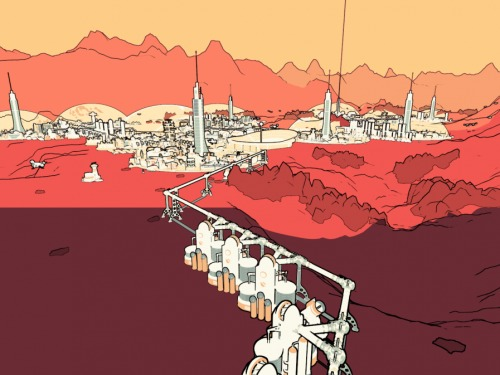Surviving Mars Mods - Cover Art Style Shading