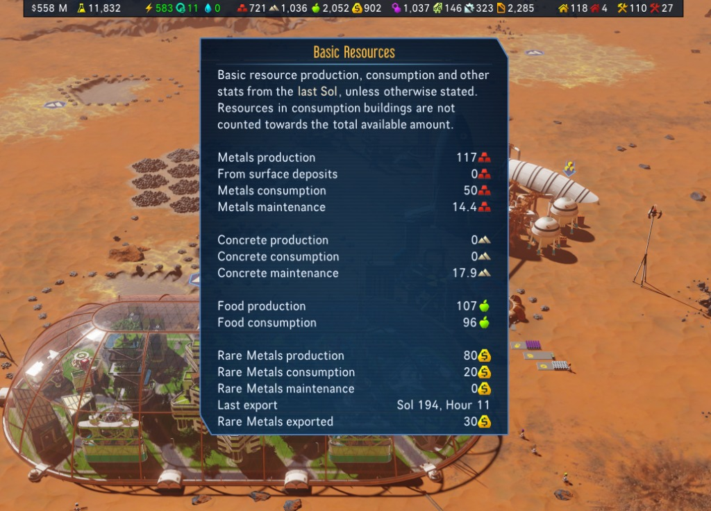 Surviving Mars Mods - Info Bar